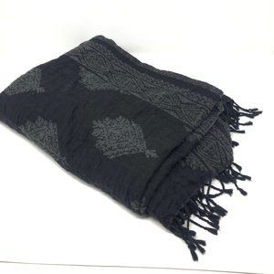 Wilfred Aritzia Wool Blend Blanket Scarf Black